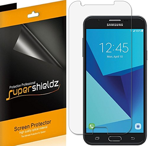 Supershieldz (6 Pack) for Samsung Galaxy J7 V and Galaxy J7V (1st Gen SM-J727V) (Verizon) Screen Protector, High Definition Clear Shield (PET)