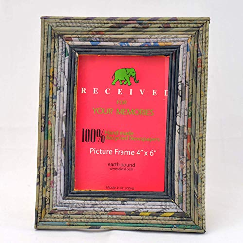 - Newspaper Recycled Hand made Picture Frame to Display Pictures 4