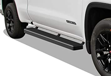 Nerf Bars Side Steps APS iBoard Polished Running Boards Custom Fit 2019-2020 Chevy Silverado GMC Sierra 1500 Crew Cab 6in Wide Aluminum Exclude 2019 Silverado Sierra 1500 LD