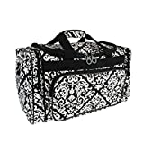 Snowflake Designs Black and White Damask Duffel Bag