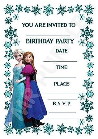 Disney Frozen Birthday Party Invites