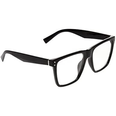 f4b8017da4 Jeepers Peepers Clear Wayfarer Black One Size  Amazon.co.uk  Clothing