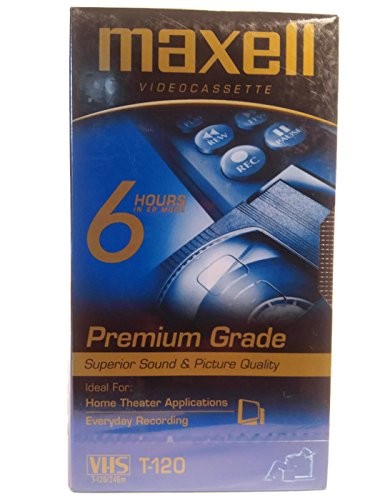 MAXWELL T-120 Premium Grade VHS Videocassette Superior Sound & Picture Set( Mulit-pack),2 Pk. Singles
