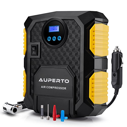 AUPERTO Digital Tire Inflator, Electric DC 12 Volt Car Portable Air Compressor Pump - 150 PSI 110 Volt Electric Inflator Pump