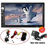 Double Din Touch Screen Car Stereo with Bluetooth Backup Camera