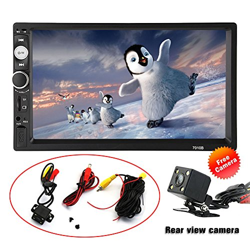SPEEDTON 7 inch Double Din Touch Screen Car Stereo MP5/MP4/MP3 Player FM Radio Car Audio Bluetooth Support Rear View Carmer Remote Control
