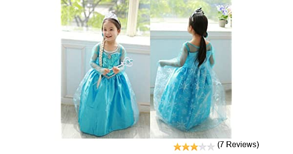 Disfraz Elsa Frozen Costume Deluxe Disney Anna Frozen 3-9 años (5 ...