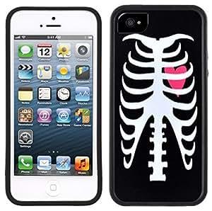 Skeleton Ribcage Punk Rock Handmade iPhone 5 5S Black Case