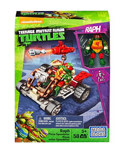 Mega Bloks Teenage Mutant Ninja Turtles Ninja Racers, Raphael Pizza Speedster