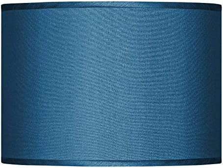 Blue Faux Silk Lamp Shade 13.5×13.5×10 Spider – Possini Euro Design