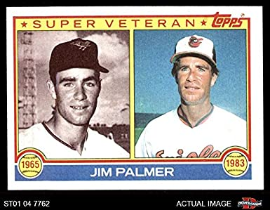 Amazoncom 1983 Topps 491 Super Veteran Jim Palmer Baltimore