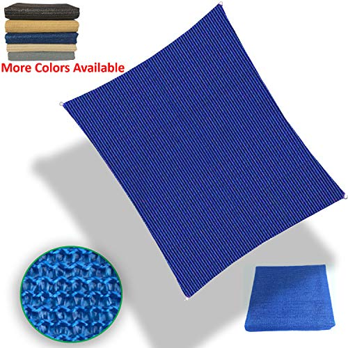 Eden's Decor Sun Shade Sail Rectangular Outdoor UV Block Canopy Cover for Garden Patio Swimming Pool Backyard Customize (Blue, 14' X 20')