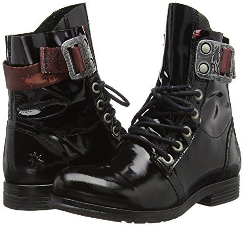 Femmes noir Combat 017 Pour Fly Noires De London Bottes nvqW7BO