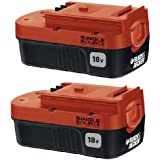 Black and Decker 18 Volt Single Source Battery 2-Pack