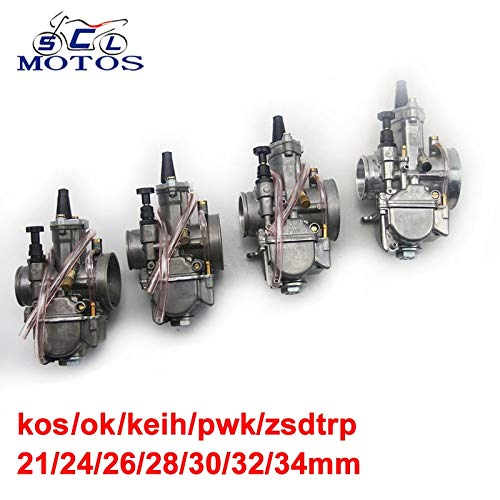 - | Carburetor | Sclmotos| 21 24 26 28 30 32 34mm for KEIHI KOSO OKO Motorcycle Carburetor Parts Carb with Power Jet Fit Race Scooter ATV | by HUDITOOLS | 1 PCs