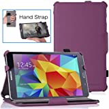 MoKo Samsung Galaxy Tab 4 8.0 Case - Slim-Fit Multi-angle Folio Cover Case for Samsung Galaxy Tab 4 8.0 Inch Tablet, PURPLE (With Smart Cover Auto Wake / Sleep. WILL NOT Fit Samsung Galaxy Tab 3 8.0)