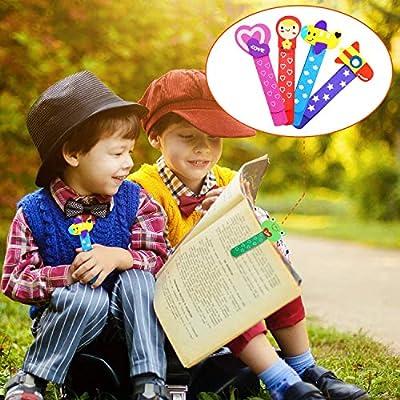20 Madera marcapáginas página clip, animal marcapáginas, marcador libro para niños favores partido fiesta niños rellenos bolsas regalo cumpleaños regalo navidad: Oficina y papelería