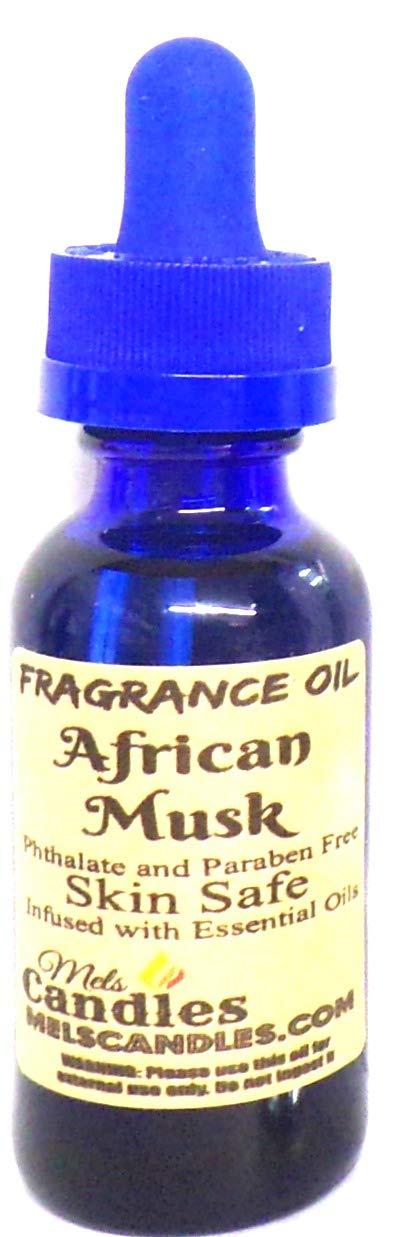 African Musk 1 Ounce / 29.5ml Blue Glass Bottle of Fragrance Oil