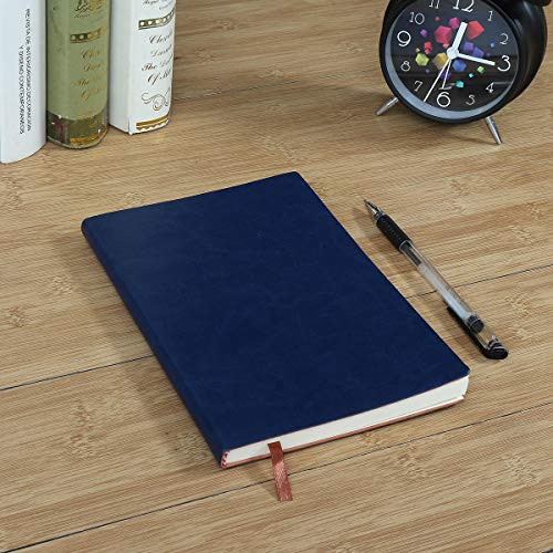 1pcs Soft Cover Leather Notebook Writing Journal 100 Page Diary Book For Office School Use - Stationery Supplies Paper & Notebooks - (Dark Blue) - 1 x Diary -