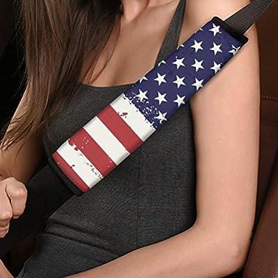 American Flag Universe Print Seat Belt Shoulder Pads Car Accessories for Women Girl, Car Accessories, Protect Adult Kids: Automotive