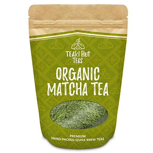 TEAki Hut Organic Matcha Green Tea Powder 4 Ounce (100 Servings)