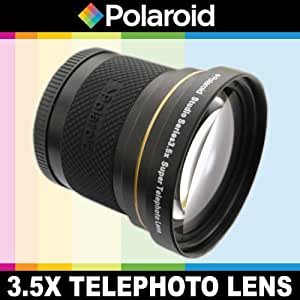 Polaroid Studio Series 3.5X HD Super Telephoto Lens, Includes Lens Pouch and Cap Covers For The Pentax X-5, K-01, K-30, K-X, K-7, K-5, K-5 II, K-R, 645D, K20D, K200D, K2000, K10D, K2000, K1000, K100D Super, K110D, *ist D, *ist DL, *ist DS, *ist DS2 Digital SLR Cameras Which Has Any Of These (55-300mm, 75-300mm, 18-50mm, 28-80mm, 31mm) Pentax Lenses