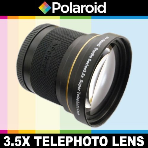 Polaroid Studio Series 3.5X HD Super Telephoto Lens, Includes Lens Pouch and Cap Covers For The Samsung NX-5, NX-10, NX-100, NX-200, NX20, NX210, NX300, NX1000, NX1100, NX2000, GALAXY NX Digital Cameras Which Has The (50-200mm, 60mm) Lens