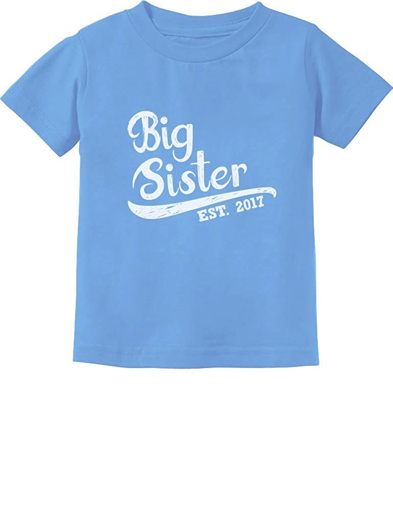 TeeStars - Big Sister Est 2017 - Sibling Gift Idea Toddler/Infant Kids T-Shirt GhPhZrMgm5