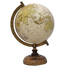 "Medium Rotating Desktop Globe World Earth Ocean Table Décor Geography Globes 13"""
