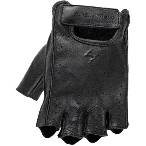 Scorpion Half-Cut Men's Leather Road Race Motorcycle Gloves - Black/Medium (Gloves Scorpion Klaw)