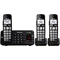 Panasonic KX-TGE243B DECT 6.0 Expandable Digital Cordless Answering System, 3 Handsets