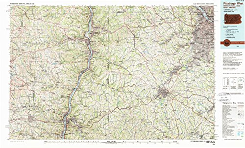 Pittsburgh West PA topo map, 1:100000 scale, 30 X 60 Minute, Historical, 1986, updated 1989, 24.1 x 40.2 IN - - Of Springfield Pa Map