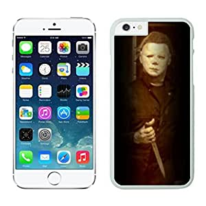 NEW DIY Unique Designed Case For iphone 6 plus Michael Myers Halloween iphone 6 plus White 5.5 TPU inch Phone Case 284