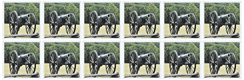 (3dRose Civil War cannon Greeting Cards, 6