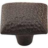 Top Knobs Square Iron Knob Dimpled Rust