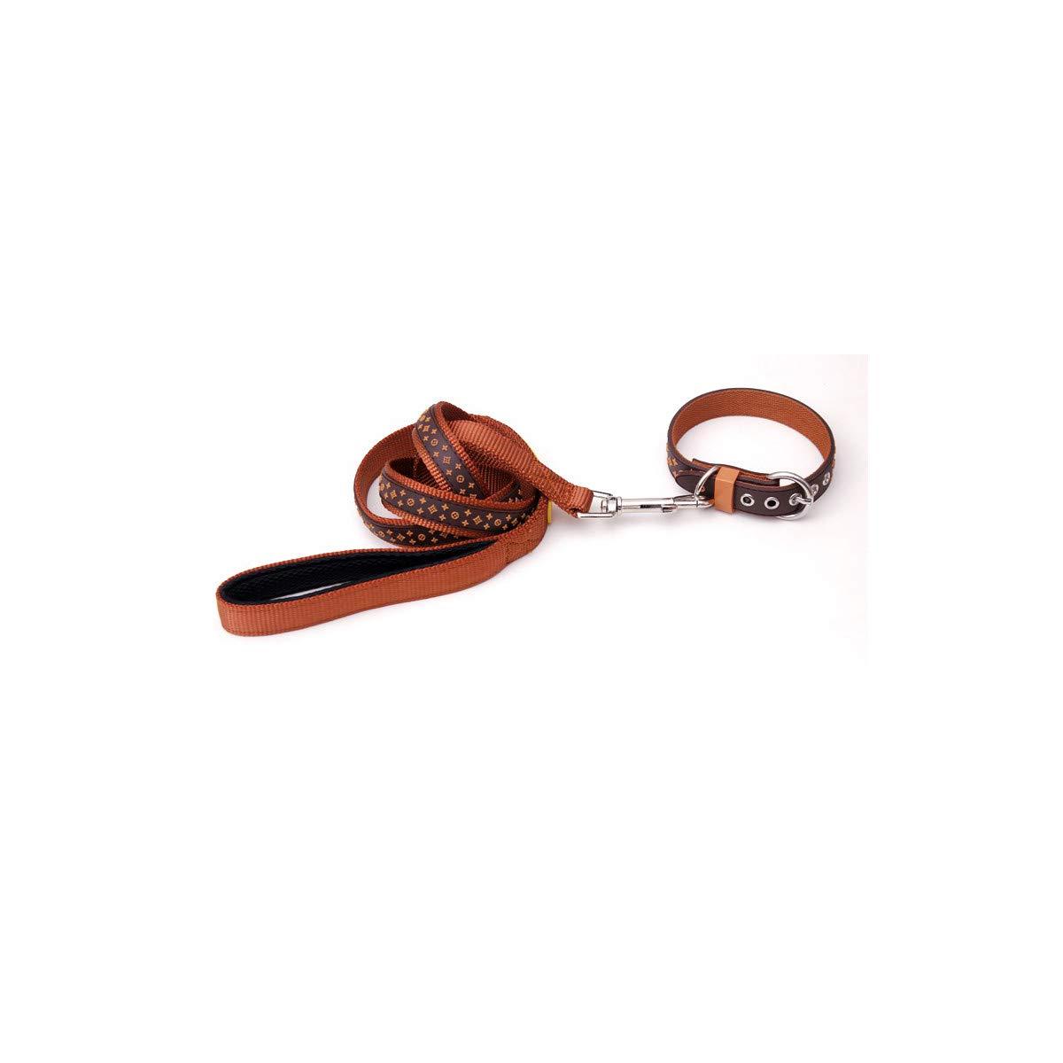 Brown Collar Lead S Brown Collar Lead S Jesiceeal for Pet Lead Small Pet Dog Collar Lead Black Brown Rubber & Nylon Pet Leash 1Pcs Lot Brown Collar Lead S