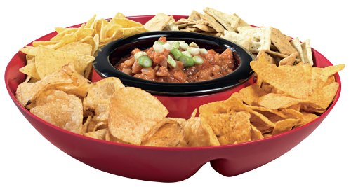 Heated Chip and Dip Traywith a removable heated base