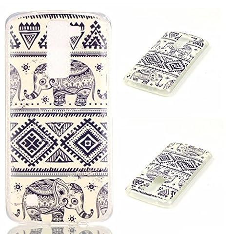 LG K8 Back Case,LG K8 K350N Phone Case,[Scratch-Proof] Flexible TPU Back Cover Case for LG K 8 Case(5.0inch)-Blue (Track Phone Covers)