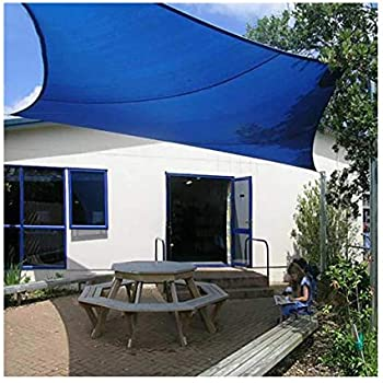 6.5x6.5ft HHJJ Shade Sail Rectangle Gray Waterproof Sun Shade Canopy for Patios Square UV Block Awning Thick Wear-Resistant Shade Cloth,2x2m
