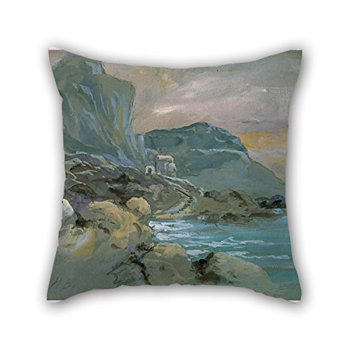 Uloveme Oil Painting Hercules Brabazon - Capri Pillow Covers 20 X 20 Inches / 50 By 50 Cm Gift Or Decor For Drawing Room,dining Room,indoor,car Seat,office - Two Sides