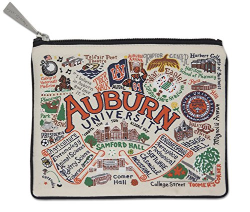 Catstudio Auburn University Zip Pouch | Use as Wallet, Clutch, Handbag or Makeup Bag