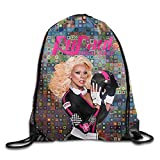 Hyseney Custom RuPaul's Drag Rac Beam Mouth Bags Drawstring Backpack