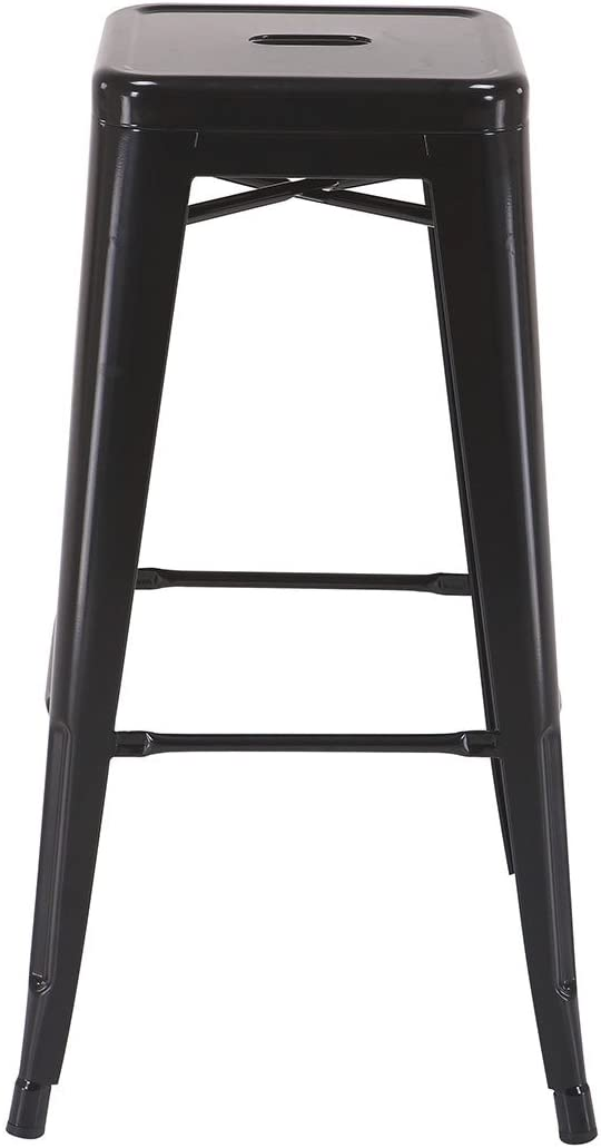 OSP Designs Patterson 30-inch Metal Backless Barstool, Black, 4-Pack