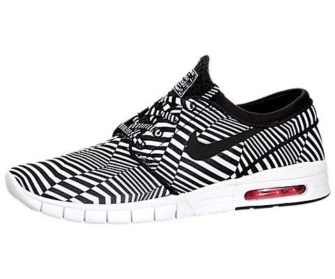 Nike Men's Stefan Janoski Max QS White/Black Skate Shoe 8...