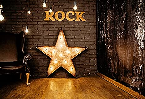Aofoto Xft Grunge Vintage Interior Decoration Photography Background Rock Star Light Backdrop Punk Pop Fashion Music