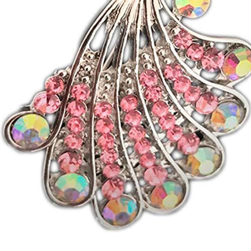 5 cm Topdo 1 Piezas Pin de aleaci/ón de Broche en Forma de Pavo Real para Mujeres Hombres Sash Bufandas Ropa Sombrero Broche Mujeres Ni/ñas Joyer/ía Estilo 3.5