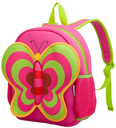 Coavas Toddler Backpack Cartoon Pack Bag Christmas Kids Gift Cute Butterfly Backpack Red