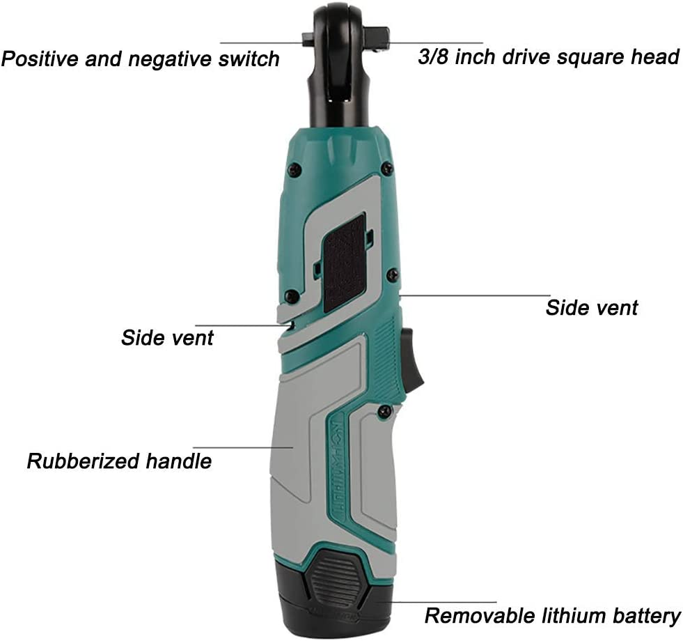 Knock Off HZWLF Electric Ratchet Wrench Cordless,Rachet 12V Power Driver 110-220V Cordless Rechargeable with 60-Min Fast Charge Variable Speed Trigger,12V 12v LCERm