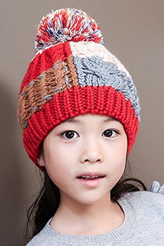 Generic new_ lovely _children hat autumn winter hat man_boys girls_mixing_warm_knitting_wool_ cap hat winter cap hat _tide