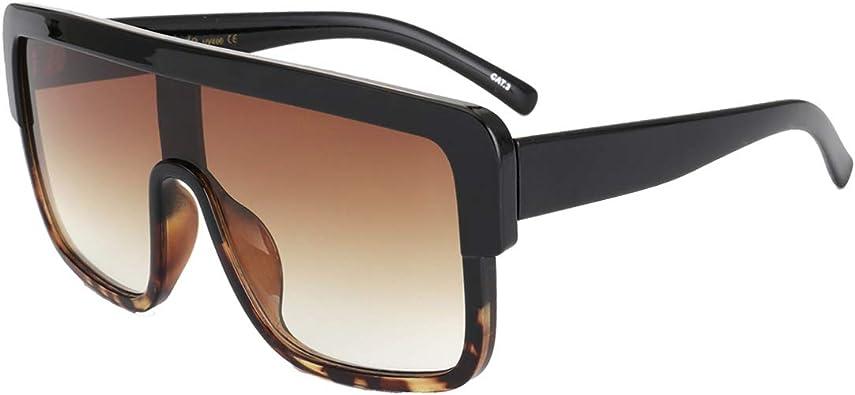 Men And Women Oversize Square Sunglasses Fashion Gradient Shades Vintage Glasses